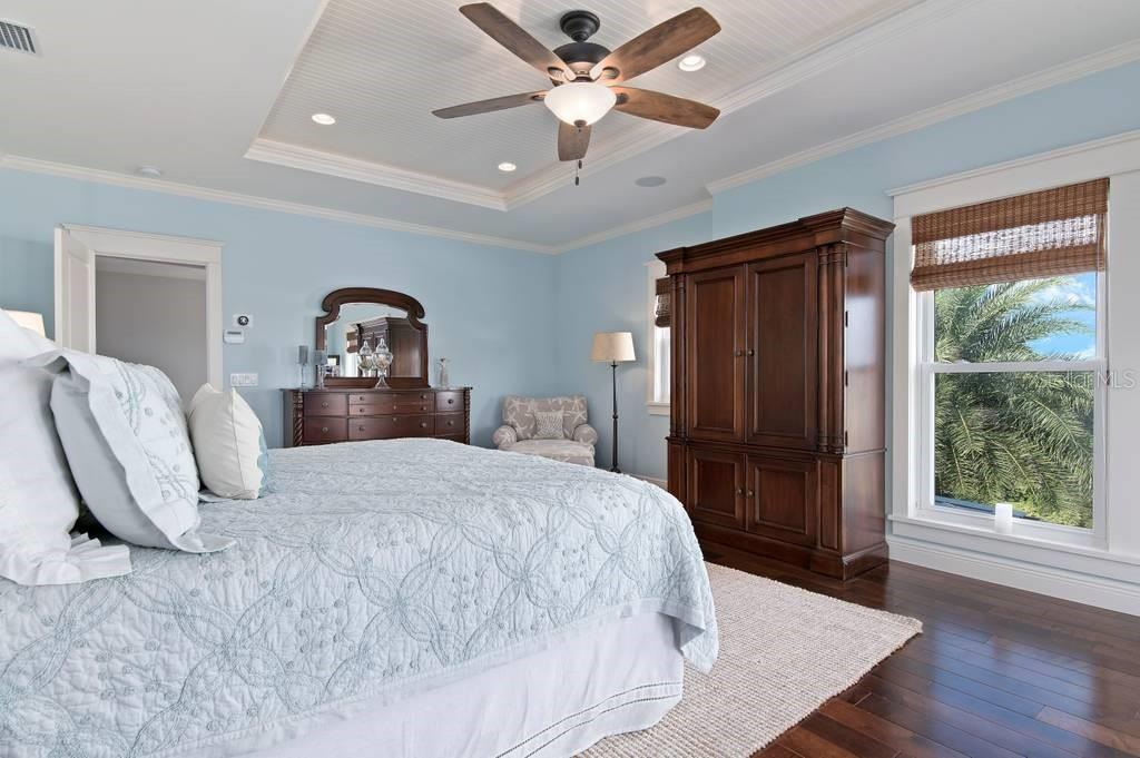 Third floor master bedroom. - Single Family Home for sale at 718 Key Royale Dr, Holmes Beach, FL 34217 - MLS Number is A4480381