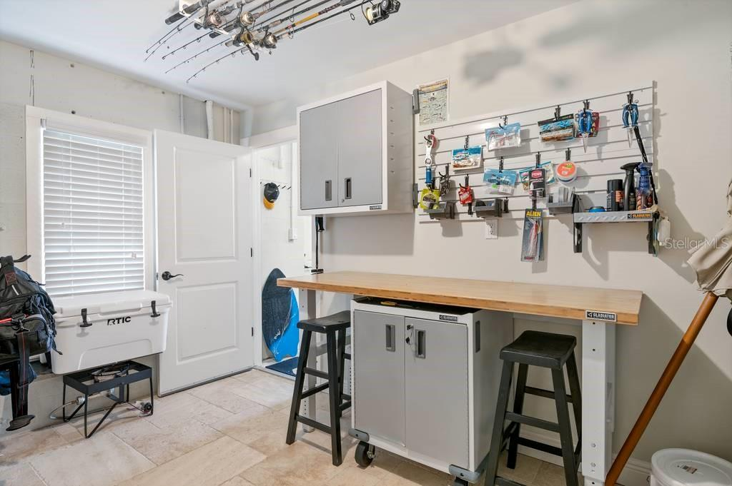 Bait and tackle room on first floor. - Single Family Home for sale at 718 Key Royale Dr, Holmes Beach, FL 34217 - MLS Number is A4480381