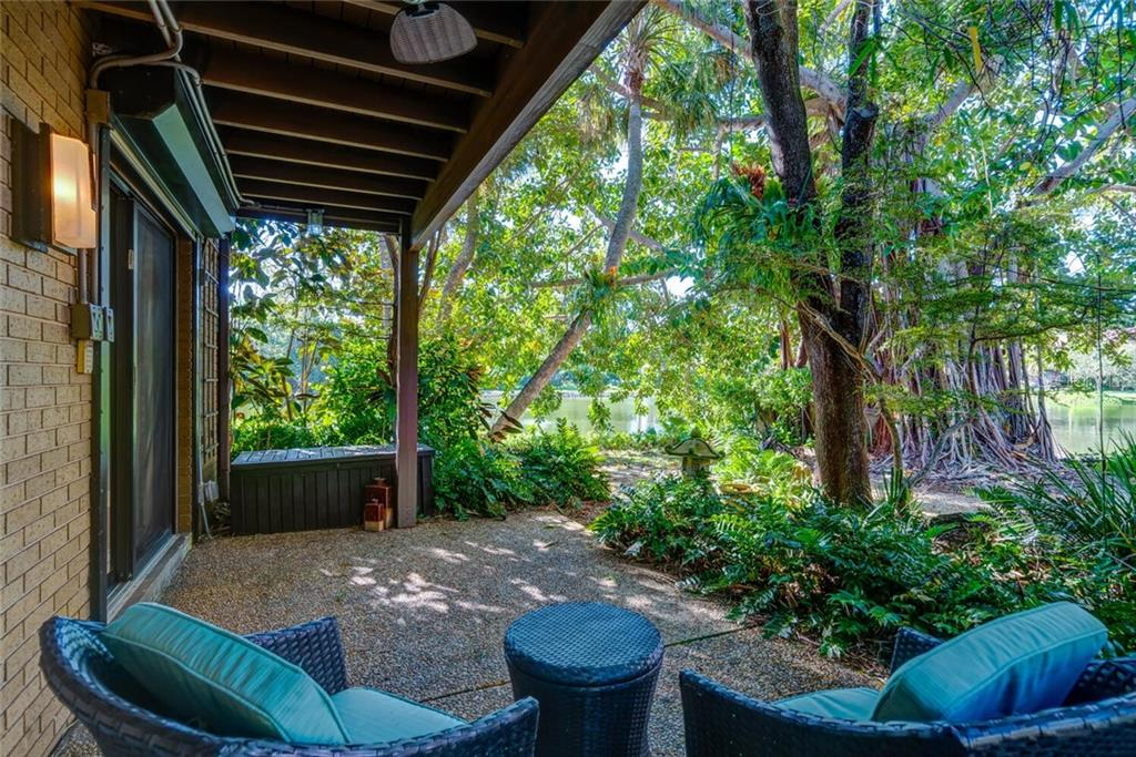 The Perfect Get-Away....private lakefront patio - Condo for sale at 17 Sandy Cove Rd #7-C, Sarasota, FL 34242 - MLS Number is A4485187