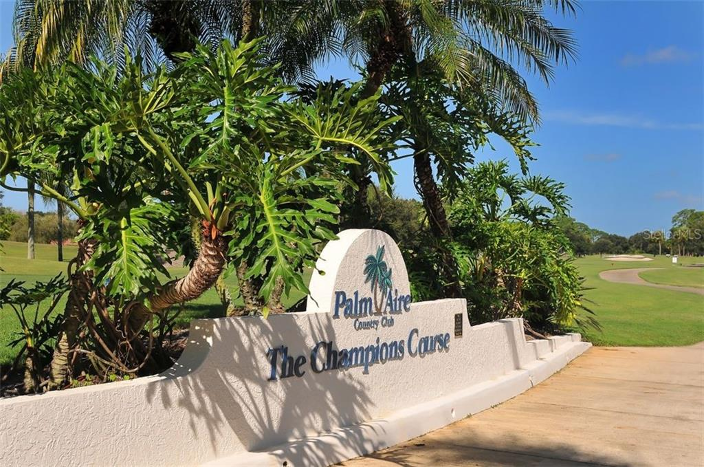 Palm Aire Country Club offers a variety of optional memberships. - Villa for sale at 4812 Lakescene Pl, Sarasota, FL 34243 - MLS Number is A4486070