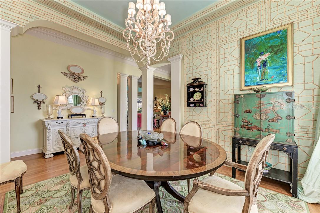 Dining Room - Single Family Home for sale at 7879 Estancia Way, Sarasota, FL 34238 - MLS Number is A4490318