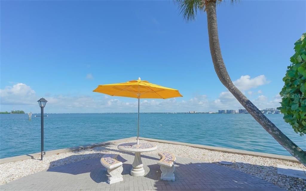 A spot to relax right on the point of land - Condo for sale at 761 John Ringling Blvd #28, Sarasota, FL 34236 - MLS Number is A4490945