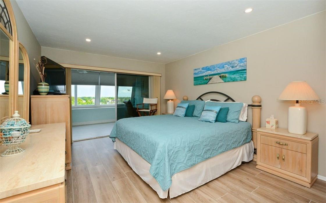 Master Bedroom - Condo for sale at 1200 E Peppertree Ln #602, Sarasota, FL 34242 - MLS Number is A4495963