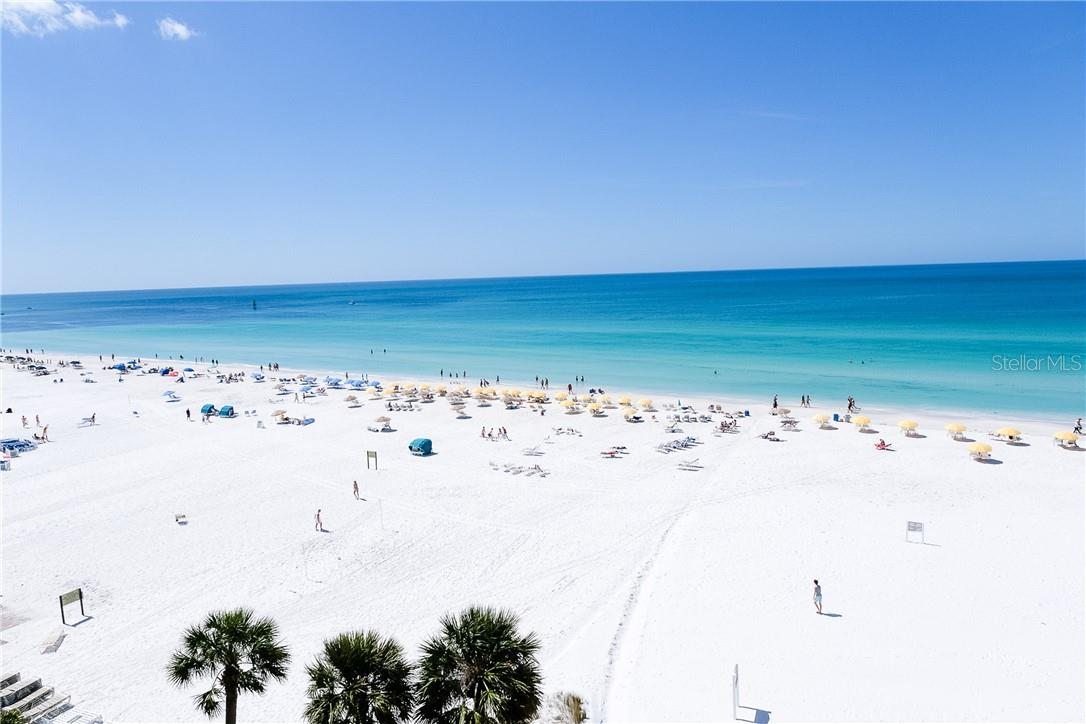 Beach Views from Unit - Condo for sale at 6300 Midnight Pass Rd #701, Sarasota, FL 34242 - MLS Number is A4496847