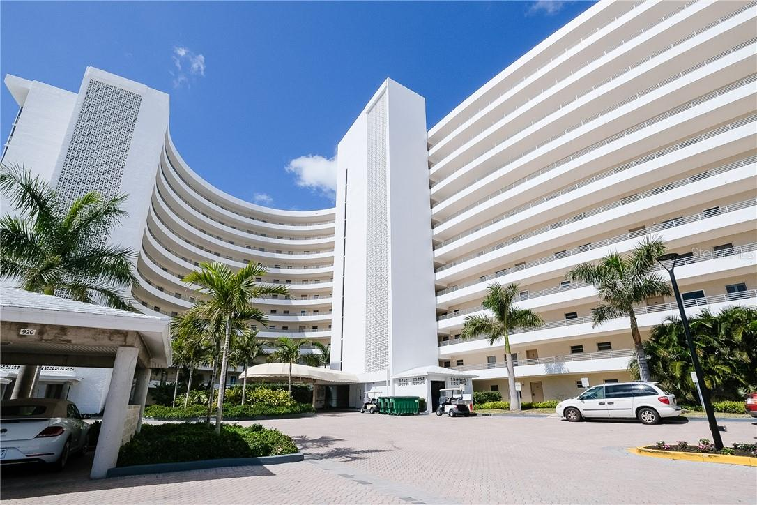 Front of Crystal Sands Building - Condo for sale at 6300 Midnight Pass Rd #701, Sarasota, FL 34242 - MLS Number is A4496847