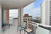 Water Views From Terrace - Condo for sale at 1350 Main St #1106, Sarasota, FL 34236 - MLS Number is A4209424