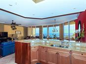 Kitchen - Views of the Turquoise Waters of the Gulf of Mexico - Condo for sale at 1300 Benjamin Franklin Dr #603, Sarasota, FL 34236 - MLS Number is A4213631