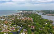 Arial Views looking toward Stickney Point Bridge and #1 Siesta Key Beach - Single Family Home for sale at 1238 Sea Plume Way, Sarasota, FL 34242 - MLS Number is A4408272