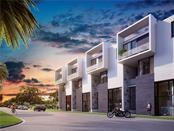 North side of building - Front entrance street side to residential condos and retail/commercial units featuring walls of glass. - Condo for sale at 1528 4th St #-, Sarasota, FL 34236 - MLS Number is A4417475