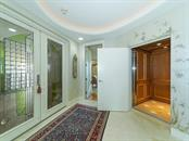 Entry Foyer - Private Owner Elevator into Home - Condo for sale at 2399 Gulf Of Mexico Dr #3c3, Longboat Key, FL 34228 - MLS Number is A4421722