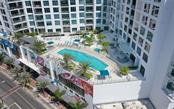 The Mark - Pool & patio. - Condo for sale at 111 S Pineapple Ave #1117 L-1, Sarasota, FL 34236 - MLS Number is A4461778