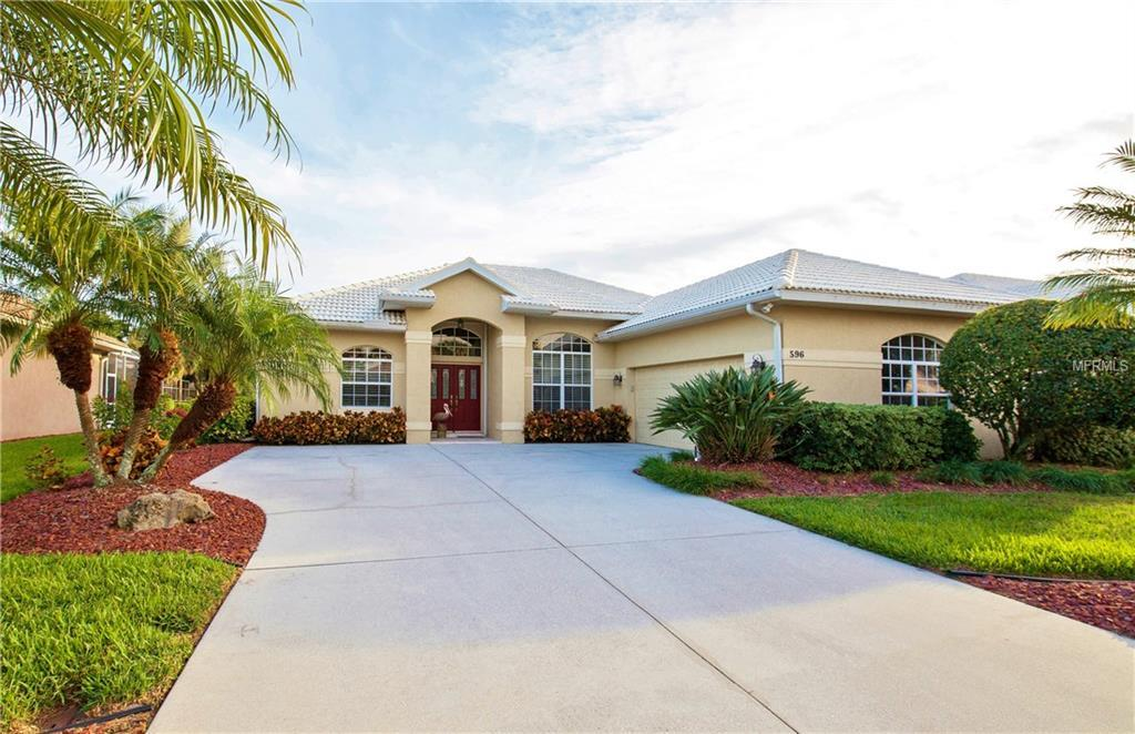 Beautiful Curb appeal.  Side entry garage with lots of storage space. - Single Family Home for sale at 596 Mossy Creek Dr, Venice, FL 34292 - MLS Number is N5911134