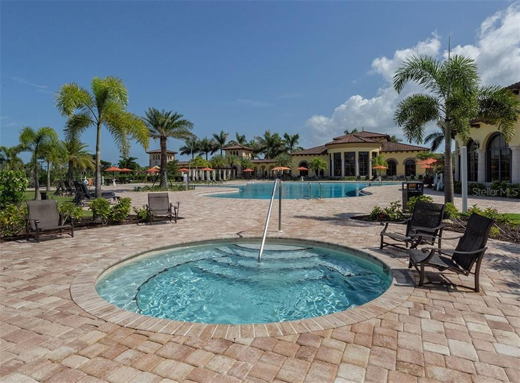 Community spa/pool and clubhouse. - Single Family Home for sale at 20122 Passagio Dr, Venice, FL 34293 - MLS Number is N5914419