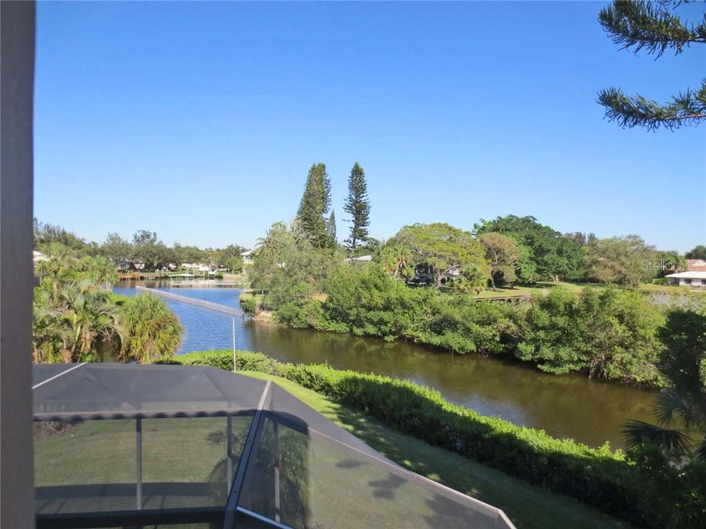 View from upstairs balcony - Villa for sale at 132 Inlets Blvd #132, Nokomis, FL 34275 - MLS Number is N5914693