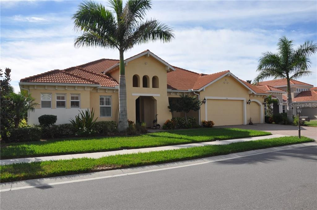 Welcome to 190 Portofino Dr. - Single Family Home for sale at 190 Portofino Dr, North Venice, FL 34275 - MLS Number is N5915077