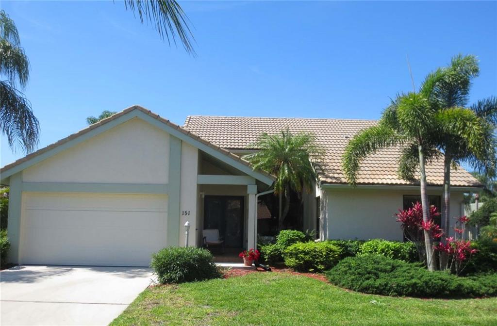Front - Villa for sale at 151 Inlets Blvd #151, Nokomis, FL 34275 - MLS Number is N6100469