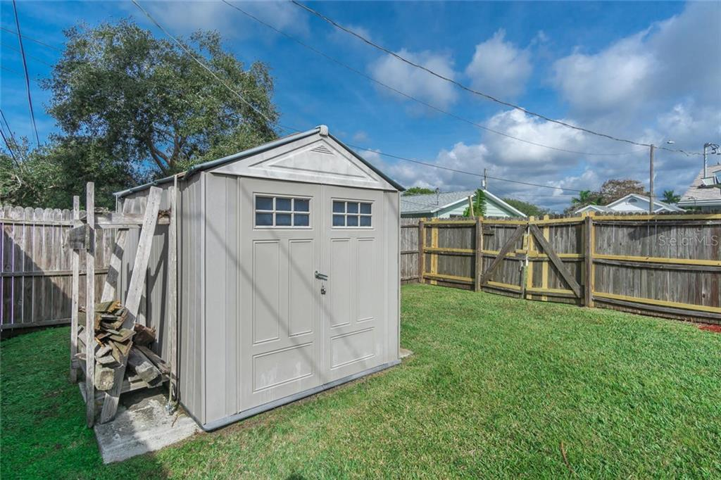 shed in back yard, gate. - Single Family Home for sale at 3656 Clematis Rd, Venice, FL 34293 - MLS Number is N6103558