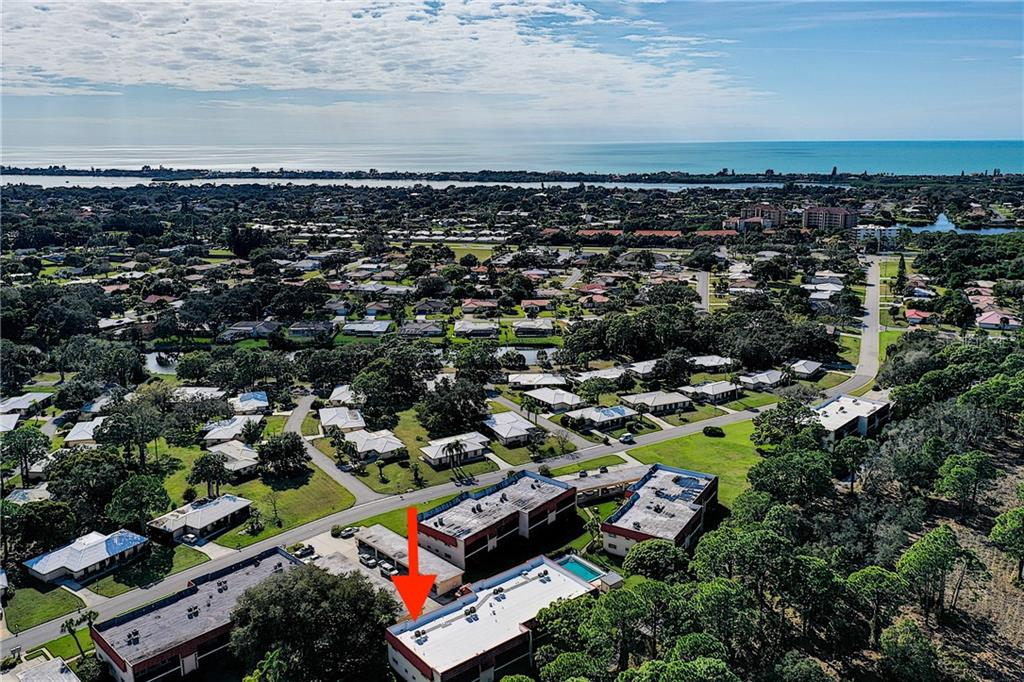 Aerial - note the close proximity to the gulf - Condo for sale at 211 Rubens Dr #h, Nokomis, FL 34275 - MLS Number is N6103629
