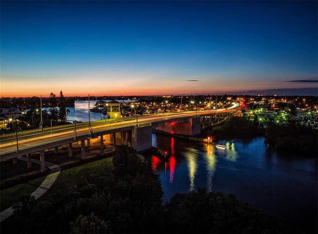 Evening view from unit - Condo for sale at 147 Tampa Ave E #902, Venice, FL 34285 - MLS Number is N6104823