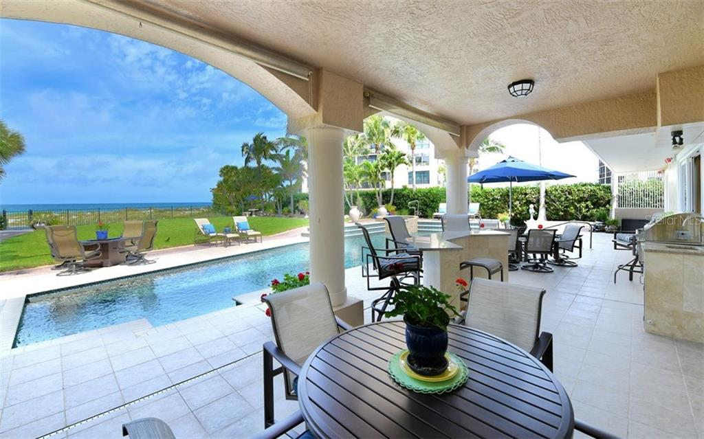 Patio to pool - Single Family Home for sale at 412 Hunter Dr, Venice, FL 34285 - MLS Number is N6105563