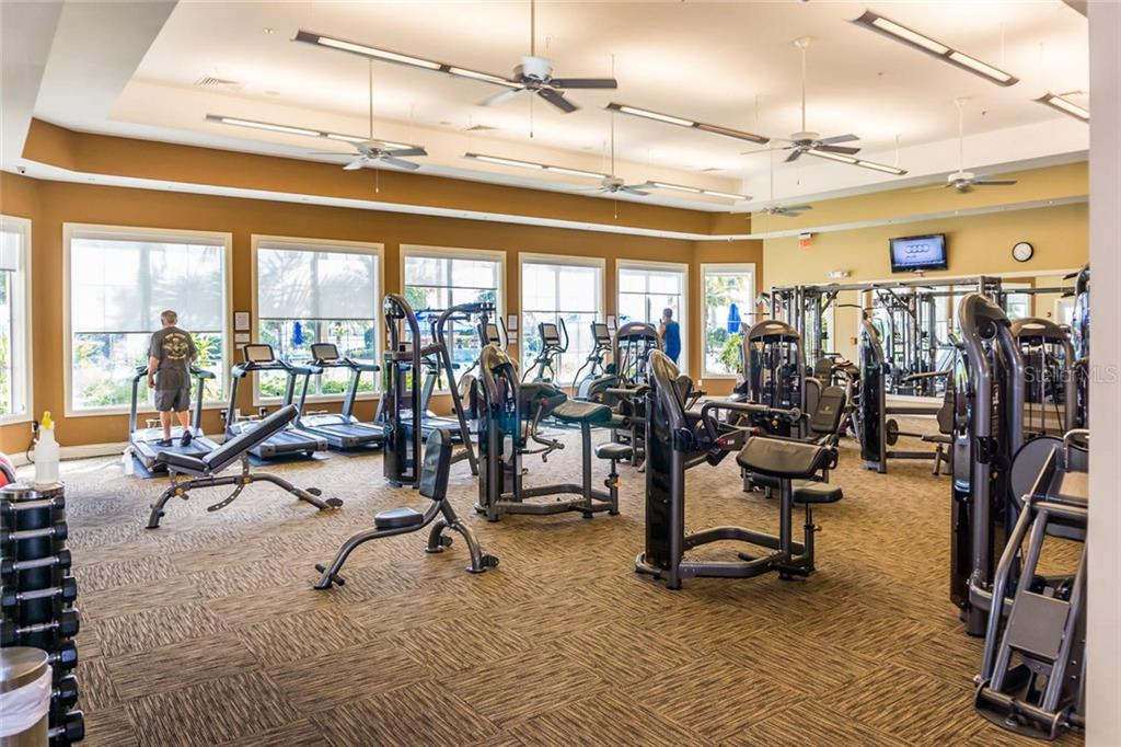 State of the Art Gym with Movement Room for Exercise Classes Plus Personal Trainer on Staff - Single Family Home for sale at 19251 Jalisca St, Venice, FL 34293 - MLS Number is N6106100