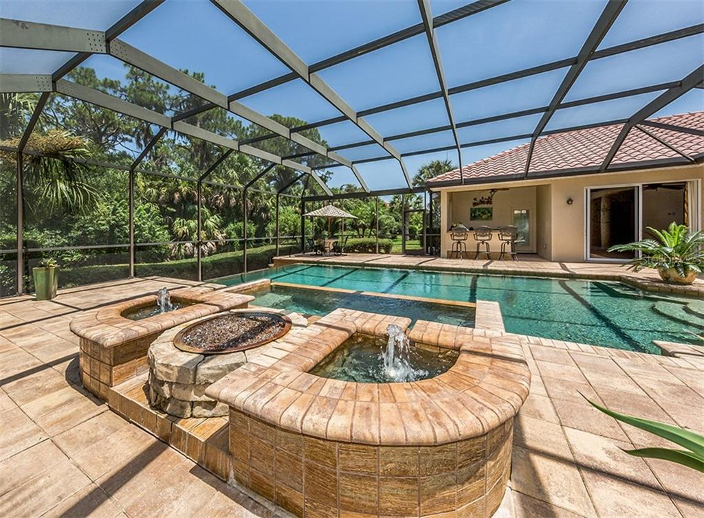Pool, spa, fire pit - Single Family Home for sale at 106 Vicenza Way, North Venice, FL 34275 - MLS Number is N6106168