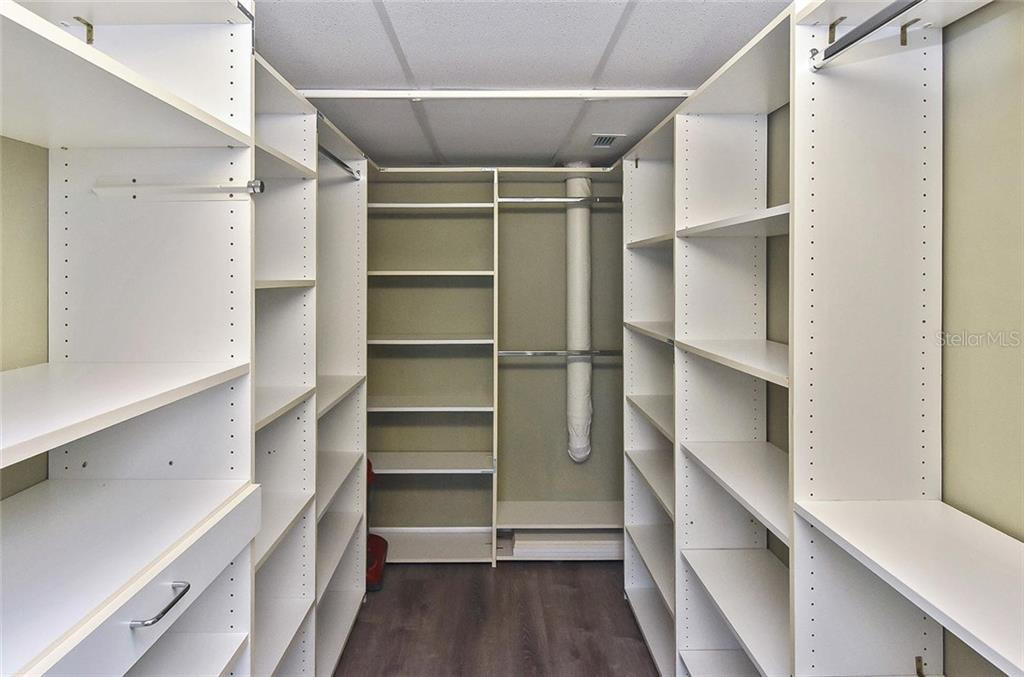 Master bedroom walk-in closet - Condo for sale at 3730 Cadbury Cir #614, Venice, FL 34293 - MLS Number is N6107624