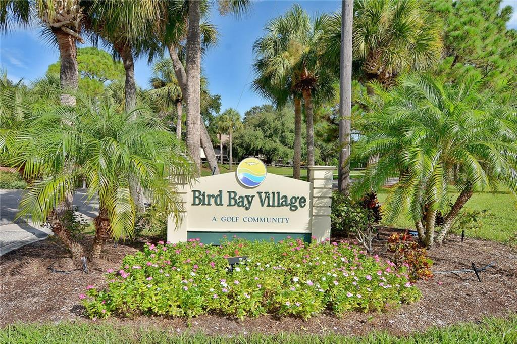 Community sign - Condo for sale at 626 Bird Bay Dr S #104, Venice, FL 34285 - MLS Number is N6107935