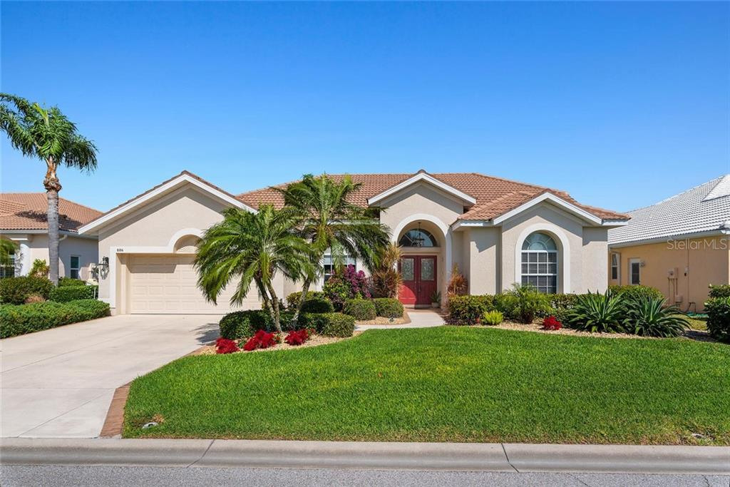 Front - Single Family Home for sale at 886 Macaw Cir, Venice, FL 34285 - MLS Number is N6111692