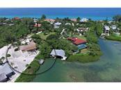 OVERHEAD VIEW GULF, BAY, BOAT DOCK - Vacant Land for sale at 1156 Casey Key (sea Grape Point) Rd, Nokomis, FL 34275 - MLS Number is N5912957