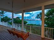 Evening view from deck - Single Family Home for sale at 743 Eagle Point Dr, Venice, FL 34285 - MLS Number is N6101092