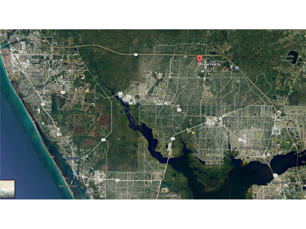 Lot  Block  Eagle Pass St North Port FL  MLS D - Florida map north port