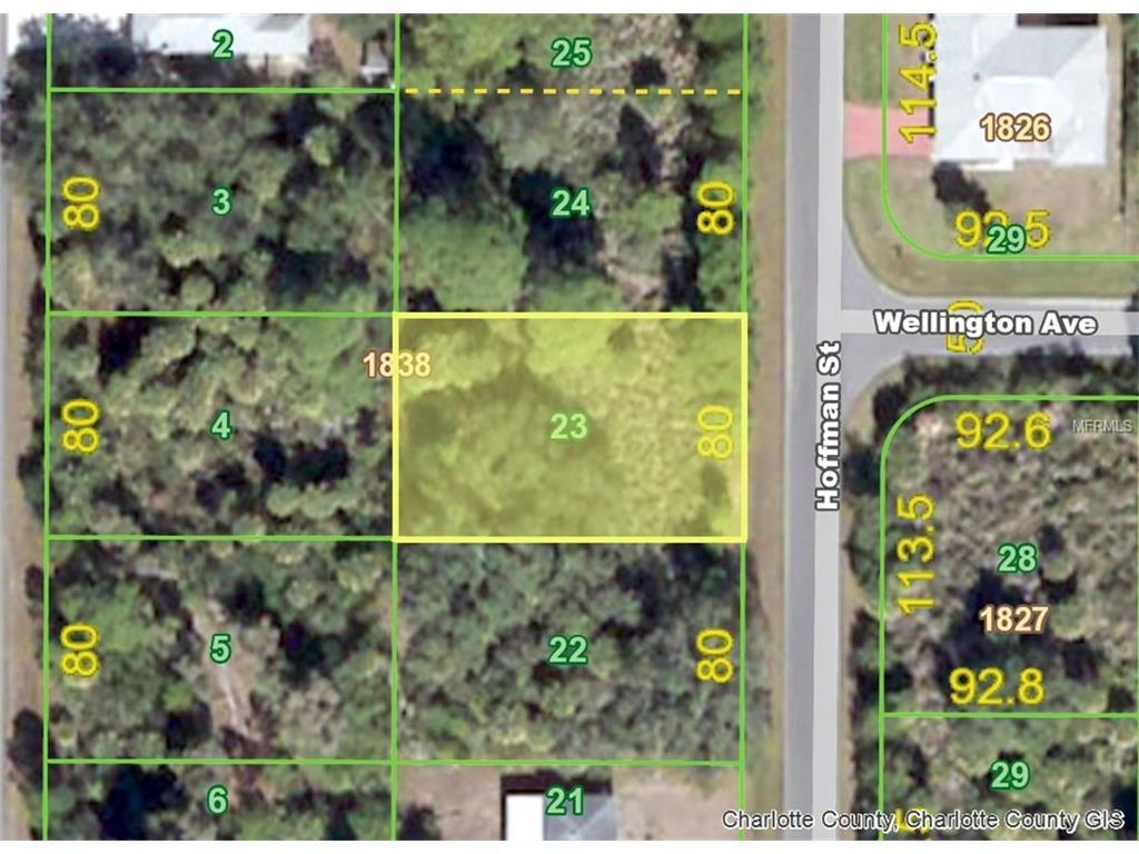 Hoffman Lot  St Port Charlotte FL  MLS D - Florida map port charlotte