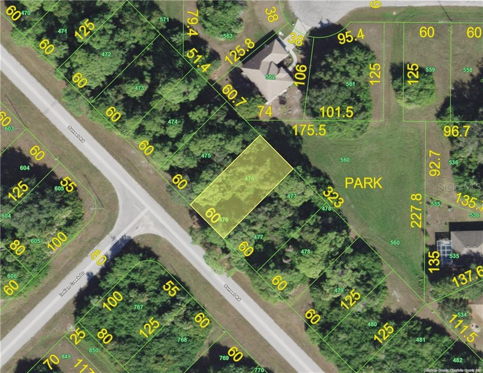 This great lot to build your home has a park as your backyard! - Vacant Land for sale at 327 Sunset Rd N, Rotonda West, FL 33947 - MLS Number is D6108572