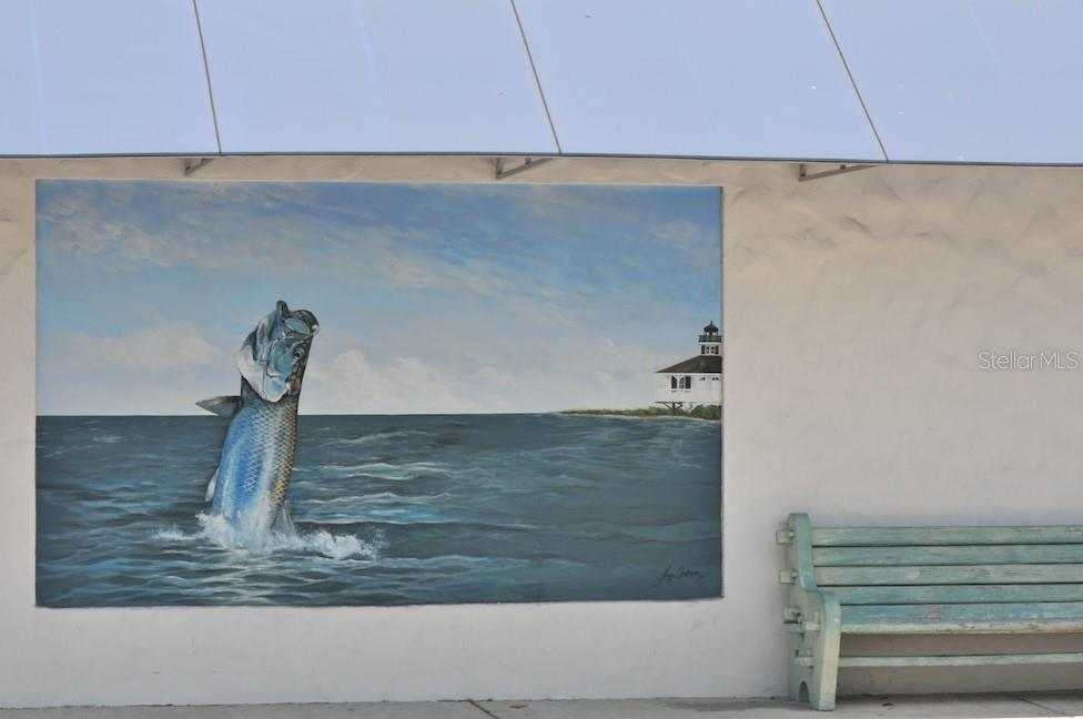 Tarpon mural - Single Family Home for sale at 16430 Gulf Shores Dr, Boca Grande, FL 33921 - MLS Number is D6110580