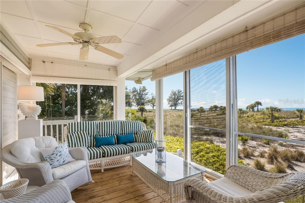 Beautiful beach views from the porch - Single Family Home for sale at 16430 Gulf Shores Dr, Boca Grande, FL 33921 - MLS Number is D6110580