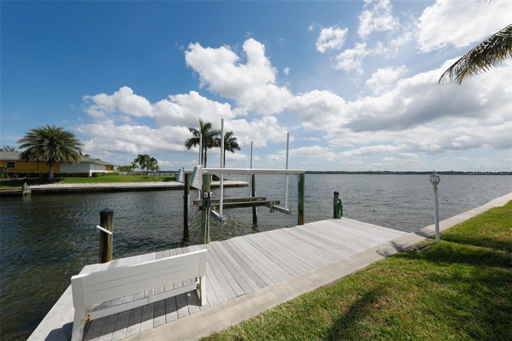 TREX DOCK WITH BOAT LIFT - Single Family Home for sale at 6793 Manasota Key Rd, Englewood, FL 34223 - MLS Number is D6112093
