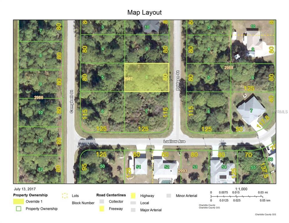Pridgen St Port Charlotte FL  MLS C - Florida map port charlotte