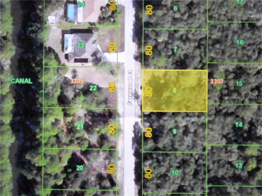 Fernwood St Port Charlotte FL  MLS C - Florida map port charlotte