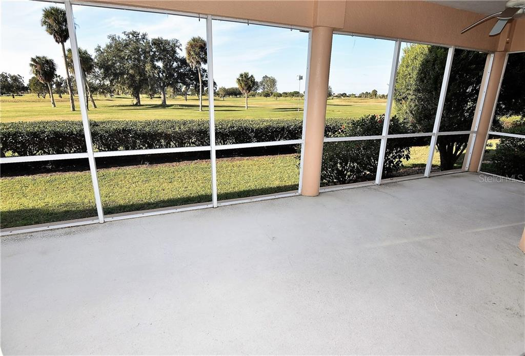 Large covered/screened lanai with beautiful golf course views.  Very private - Condo for sale at 3959 San Rocco Dr #212, Punta Gorda, FL 33950 - MLS Number is C7409637