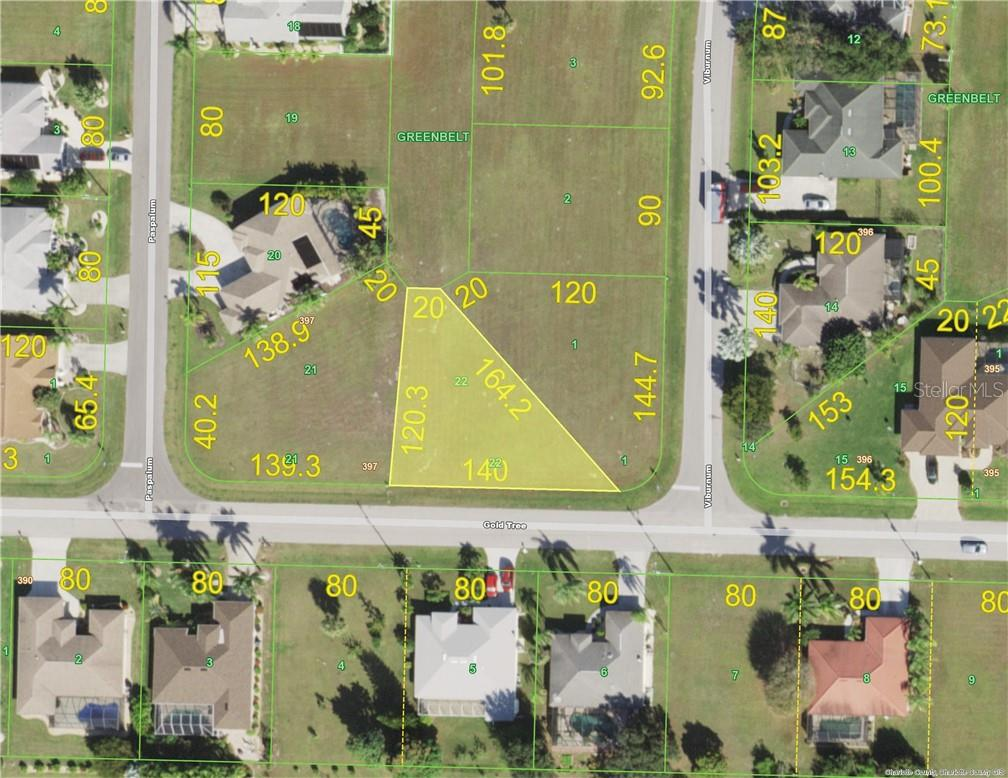 Aerial View - Vacant Land for sale at 206 Gold Tree, Punta Gorda, FL 33955 - MLS Number is C7418232