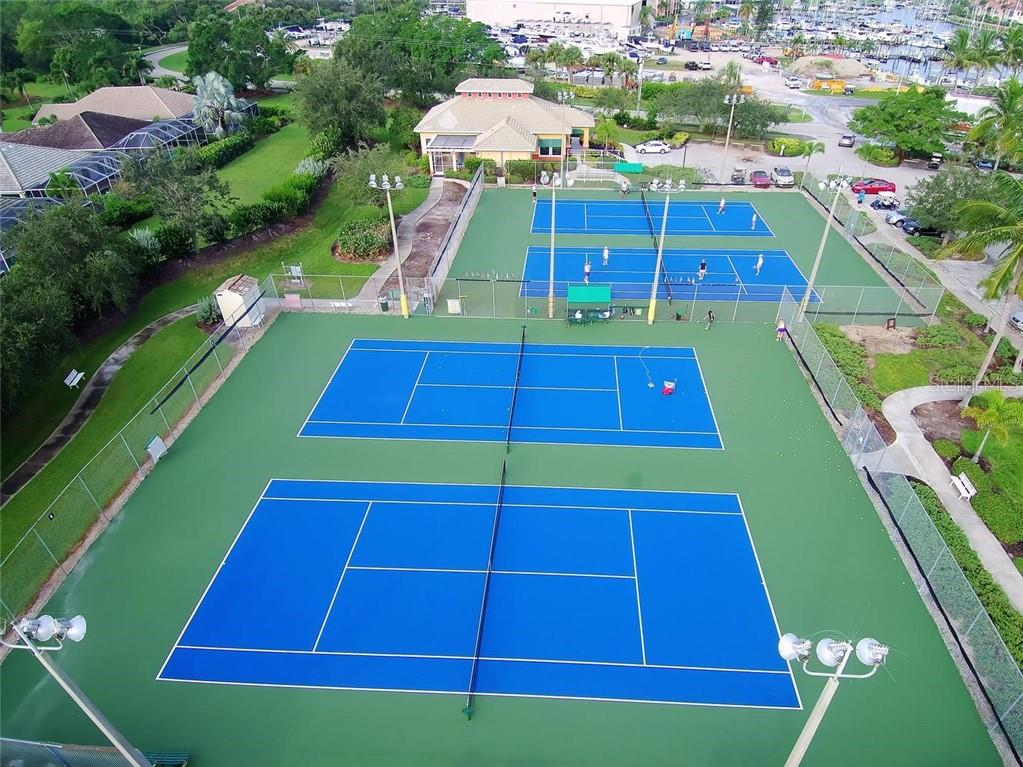 Tennis/Pickleball courts - Condo for sale at 3191 Matecumbe Key Rd #705, Punta Gorda, FL 33955 - MLS Number is C7423322