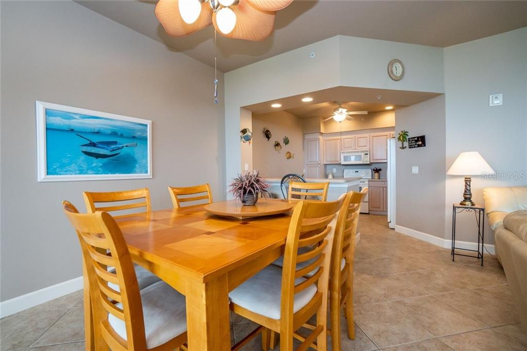 Dining area - Condo for sale at 3191 Matecumbe Key Rd #705, Punta Gorda, FL 33955 - MLS Number is C7423322