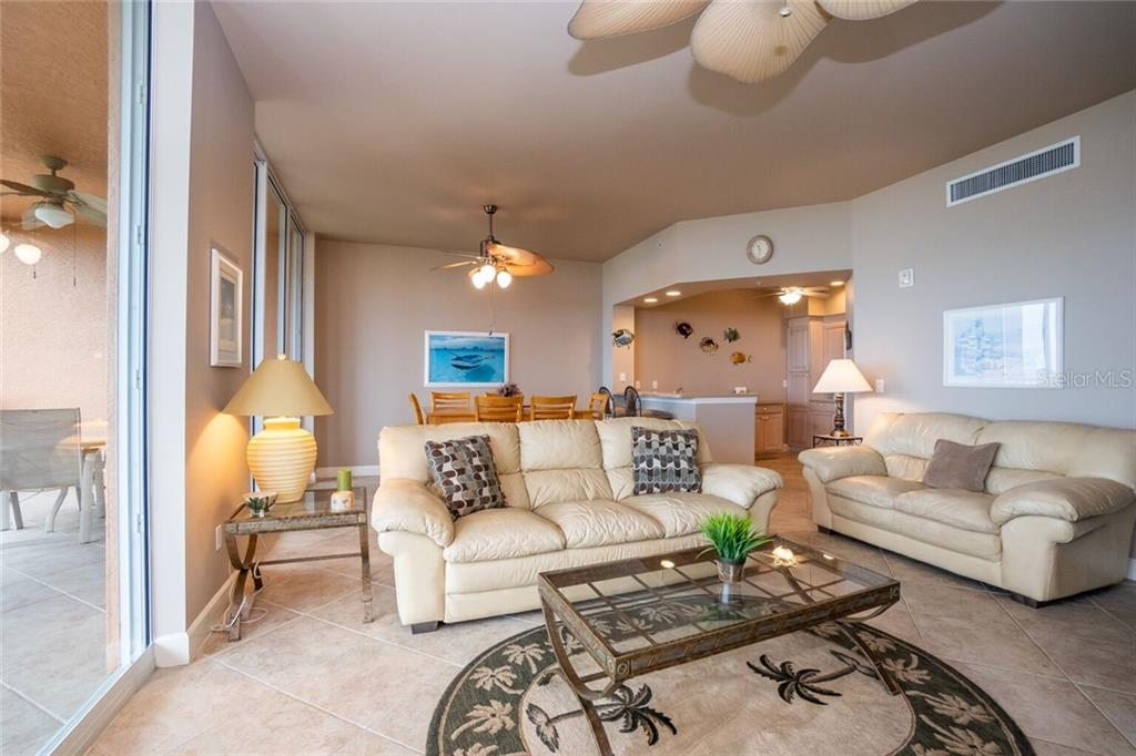 Living room - Condo for sale at 3191 Matecumbe Key Rd #705, Punta Gorda, FL 33955 - MLS Number is C7423322