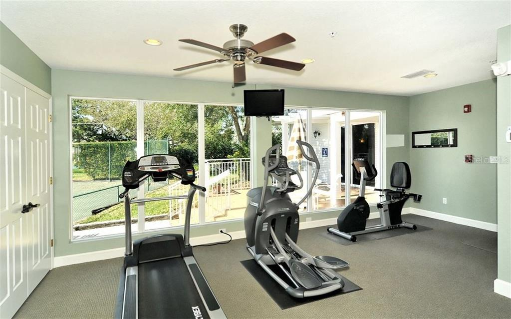Community fitness center - Condo for sale at 1260 Dolphin Bay Way #401, Sarasota, FL 34242 - MLS Number is A4173008