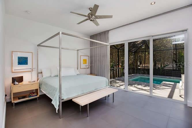 Master Bedroom With Sliders To Patio And Swimming Pool Single Family Home For Sale