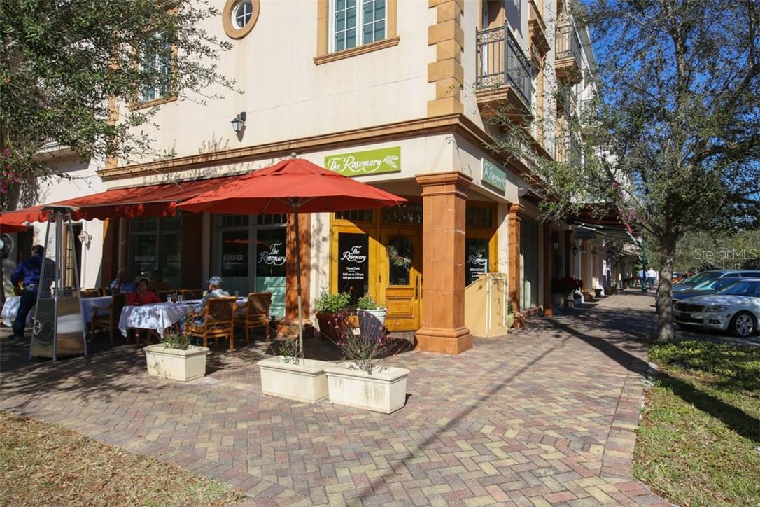 One of Citrus Square's best outdoor cafes is the Rosemary located opposite Zahrada. - Condo for sale at 1552 4th St #106, Sarasota, FL 34236 - MLS Number is A4189081