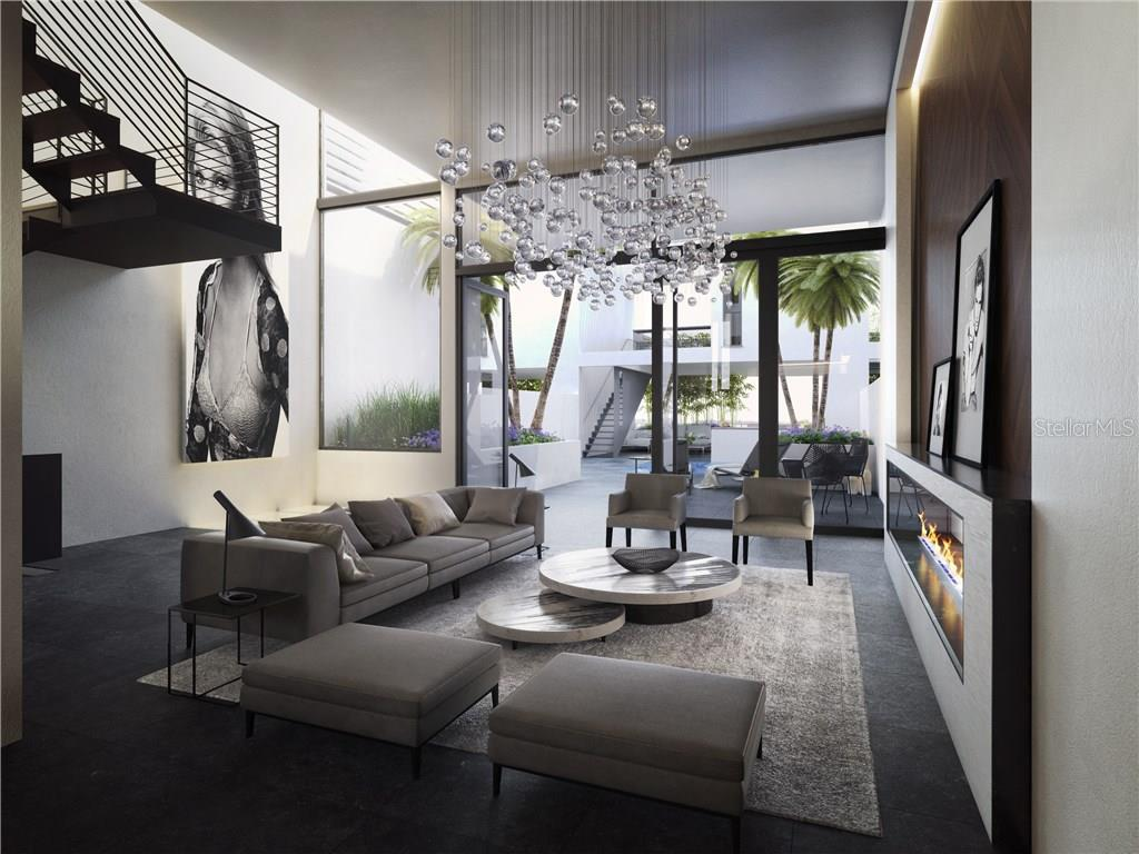 Residences are designed with a linear flow, with visibility from the kitchen through to the lush terrace. Incredible contemporary styling, high ceilings and walls of glass detail these luxurious Zahrada residences which invite the outdoors in! - Condo for sale at 1552 4th St #106, Sarasota, FL 34236 - MLS Number is A4189081