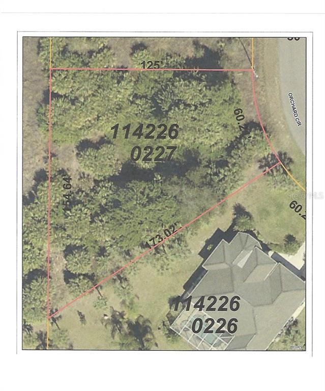 Orchard Cir North Port FL  MLS A - Florida map north port