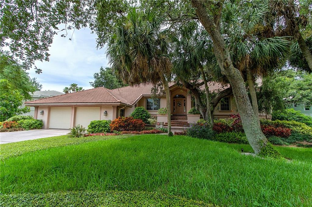 Front Elevation - Single Family Home for sale at 3590 Bayou Cir, Longboat Key, FL 34228 - MLS Number is A4192177